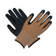 Black Safety Work Gloves Latex Coated Labor Protective