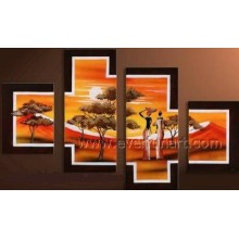 Home Decor Arte Africano Pintura a óleo (AR-150)
