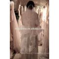 Vente chaude long design dentelle garniture voile de mariée