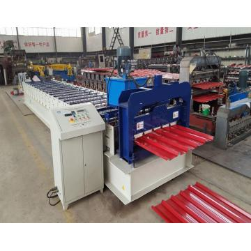 CNC Hydraulic Coloured Steel Trapezoidal Galvanized roll membentuk mesin