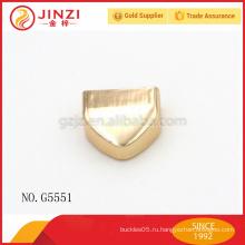 Треугольник форма молния конец, металл блестящий золотой молния конец, молния конец для сумочка или одежда молния
