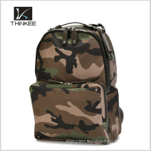 High Quality With Your Own Leather Patch Logo Camo Backpack