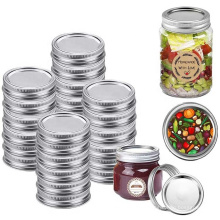 Empty 16oz food grade storage glass mason canning jar with metal screw split type lid