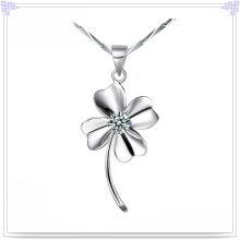 Colar de cristal jóias de prata 925 jóias de prata esterlina (NC0022)