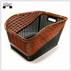Brown color big bicycle basket/ rear rack basket