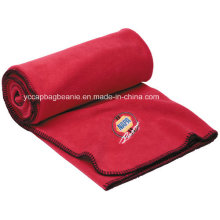 High Quality Micro Fleece Embroidery Outdoor Fleece Blanket