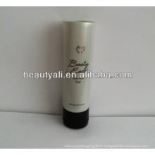 Tube en plastique tube cosmétique tube blanc perlié