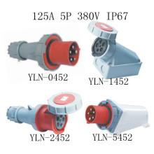 Промышленная вилка и Розетка 125А кабель 5pin