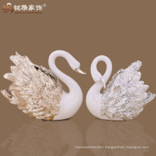 environment friendly duck shape resin vase for home bar decoration