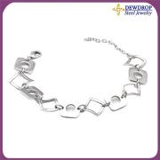 Floating Charms Bracelet Silver Bracelet for Man
