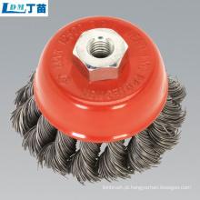 escova de roda de náilon para remoção de cavacos de alta qualidade