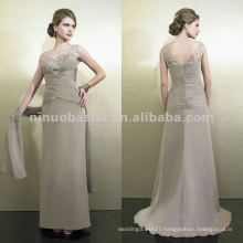 NY-1998 Silver embroidery Tiffany chiffon a-line mother dress