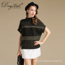 Classical Style Cashmere Wool Pullover Handmade Chunky Knit Sweater For Women