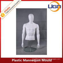 Molde de manequim de plástico matt branco macho