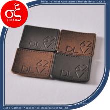 Insignia de cuero de alta calidad al por mayor para el bolso