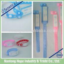 Hospital patient ID bracelets