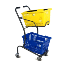 Double layer basket trolley