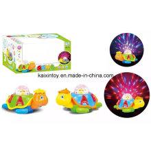 Tortuga con pilas con luz intermitente y música para niños