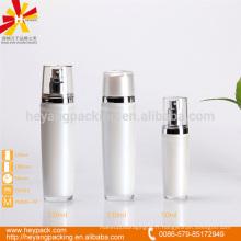 Conteneur à cylindre acrylique blanc de 50 ml 130 ml