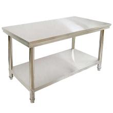 Établi à 2 couches pour table de restaurant en acier inoxydable