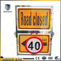 portable road safety traffic control sign