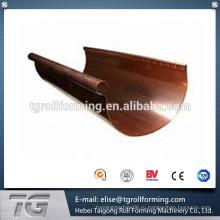 2015 новый тип стальной оцинкованный дождевой водосточный желоб рулон формовочная машина популярная продажа