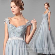Vente en gros de bonne qualité New Cheap Lace formal Cap Sleeve Beach longue robe de demoiselle d'honneur LB37