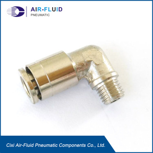 Air-Fluid Lubrication Push in Fittings Elbow