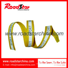 High visibility reflective polyester webbing