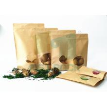 Kraft Paper Bag with Clear Window/Coffee Bag with Clear Window