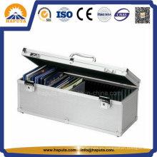 Que lleva duro aluminio CD / DVD almacenamiento caso Ho-1007