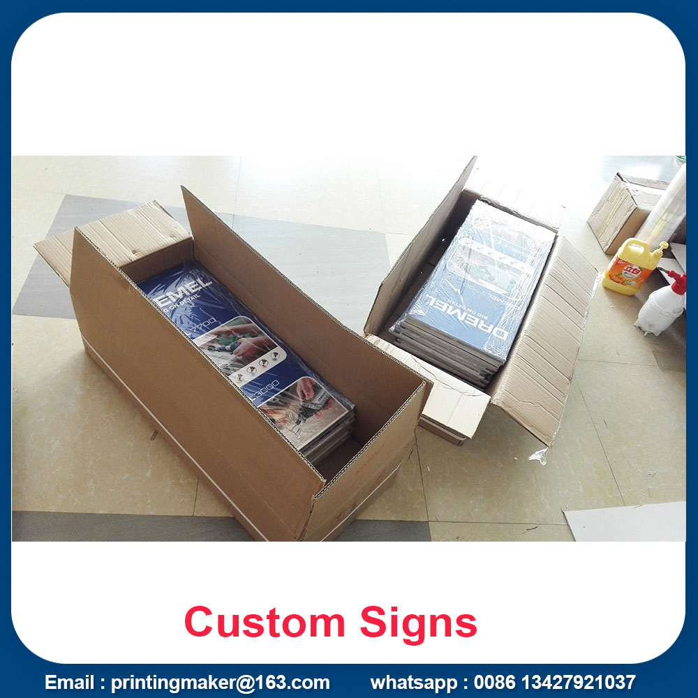 package of our pvc signs