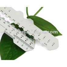 Regla de distancia de pupila, Regla de PD de plástico óptico para medir la distancia de pupila