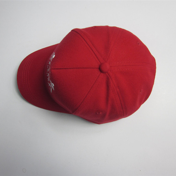 Red Flat Embroidery Sports Cap