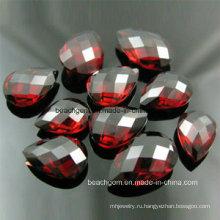 Мода ювелирные изделия свободные ограненные граната драгоценный камень (SEMI001)