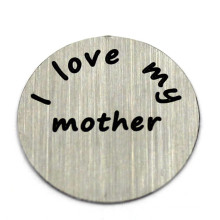 22mm Stainless Steel Round Free Cutom Locket Slide Charms