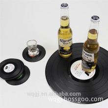 Creative Retro Records Popular CD Insulation Pad Black Resin Table Mat