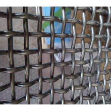 55 / 65mn Mine Sieving Crimped Wire Mesh para Rock Crusher