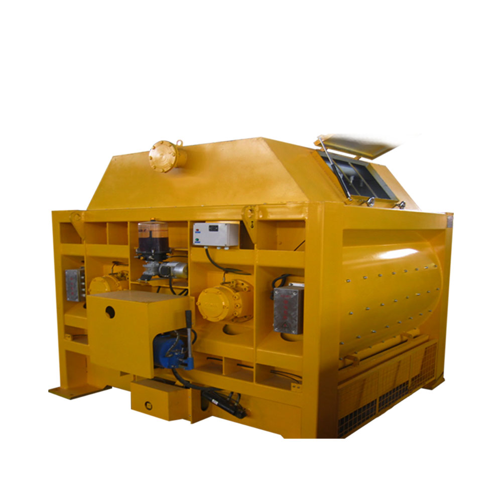 Centralized front end loader concrete mixer for tracto