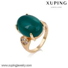 14716 xuping jóias 18k banhado a ouro moda novo design anel de dedo para as mulheres