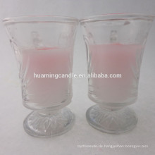 Duftkerze im Glasglas / Kirchenkerze