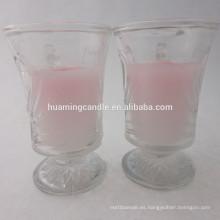 Vela perfumada en jarra de cristal / vela de la iglesia