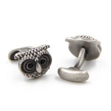 VAGULA antiga coruja prata algemas (HLK35138)
