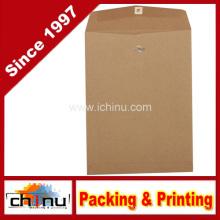 Envelopes reciclados de extremidade aberta com fecho - Brown Kraft Paper Bag (220109)
