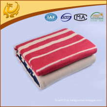China Factory New Style Wholesale Stripe Jacquard Algodão Fleece Blanket