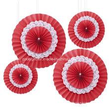 Rosetones de papel de la boda / ventiladores de papel de tejido / ventiladores de tejido colgantes Rosettes