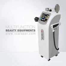 Machine de beauté de retrait de tatouage de ride de cheveux de IPL + RF + ND YAG LASER