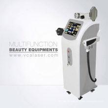 Máquina da beleza da remoção da tatuagem do enrugamento do cabelo do LASER de IPL + RF + ND YAG