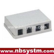 4 ports Surface Box UTP Cat5e RJ45 PCB jack