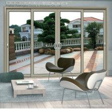 Portes coulissantes en aluminium à double vitrage (FT-D120)